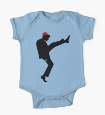 The [11th] Doctor of Silly Walks Short Sleeve Baby One-Piece