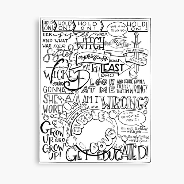 The Wicked Witch of the East Bro Hand Lettered Canvas Print