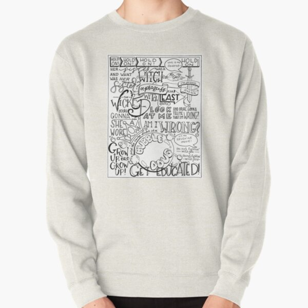 The Wicked Witch of the East Bro Hand Lettered Pullover Sweatshirt