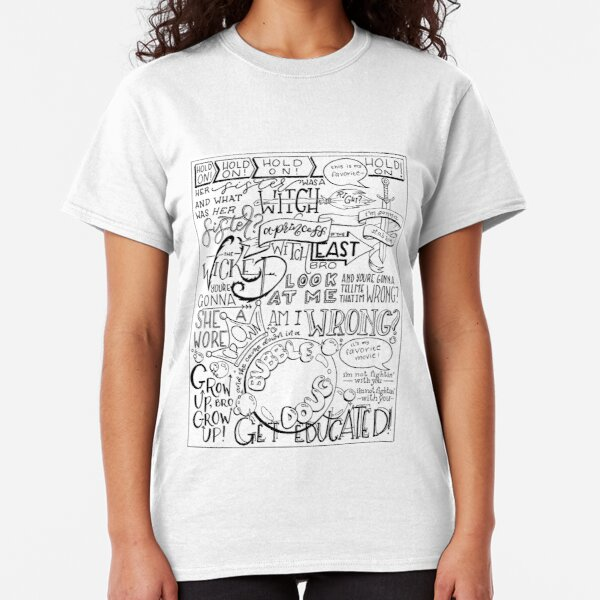 The Wicked Witch of the East Bro Hand Lettered Classic T-Shirt