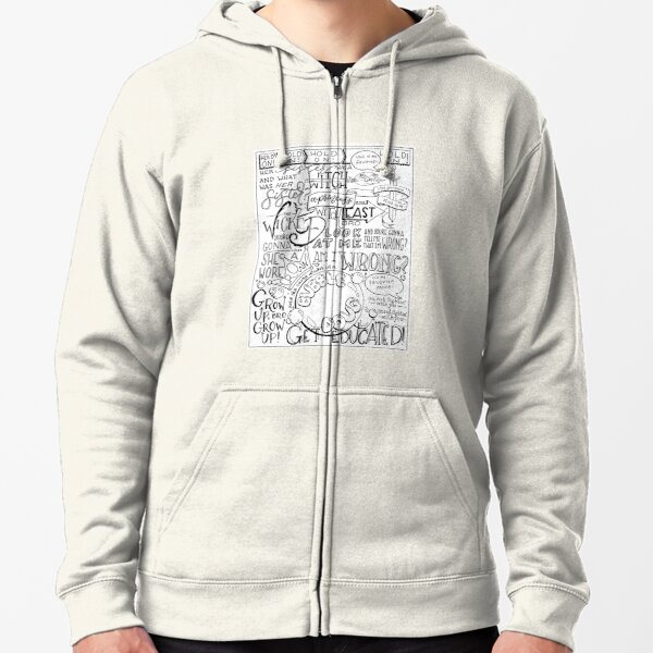 The Wicked Witch of the East Bro Hand Lettered Zipped Hoodie