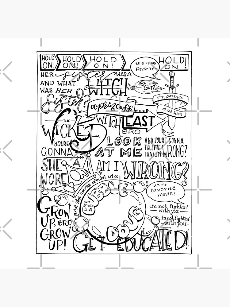The Wicked Witch of the East Bro Hand Lettered by catlashley