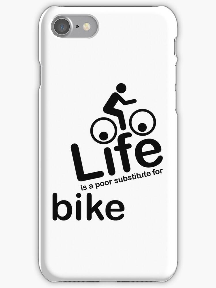 Bike v Life - White by Ron Marton