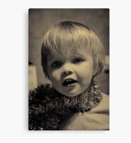 If David Bowie had a glam toddler :) Canvas Print