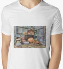 Autumn Roost Mens V-Neck T-Shirt