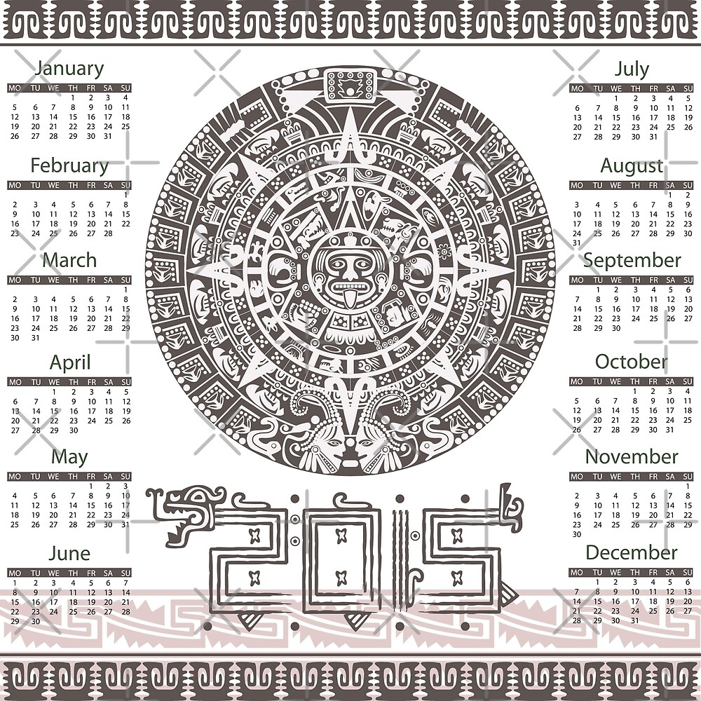 2015 Aztec Style Calendar by cartoon
