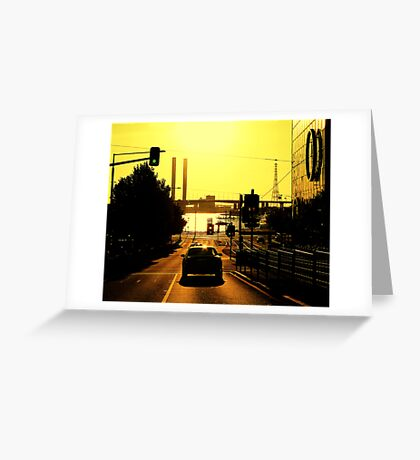 My city aglow Greeting Card
