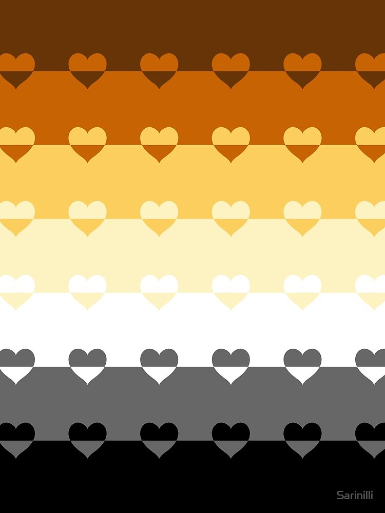 LGBTQ Flag with Hearts v1 - Bear by Sarinilli