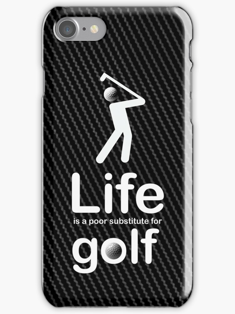 Golf v Life - Carbon Fibre Finish by Ron Marton