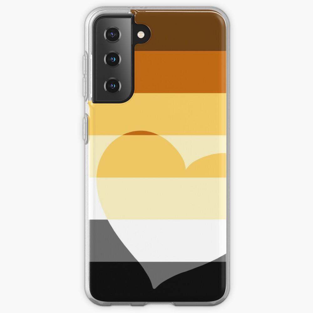LGBTQ Flag with Hearts v2 - Bear Case & Skin for Samsung Galaxy