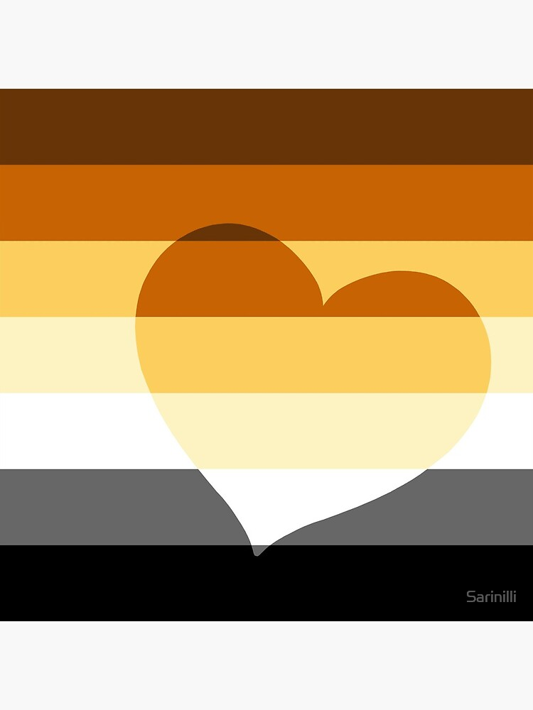 LGBTQ Flag with Hearts v2 - Bear by Sarinilli