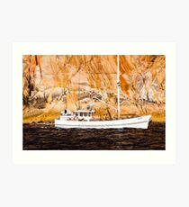 crays by the cliff Art Print