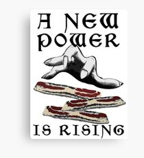 Bacon - A New Power is Rising in the Feast Canvas Print