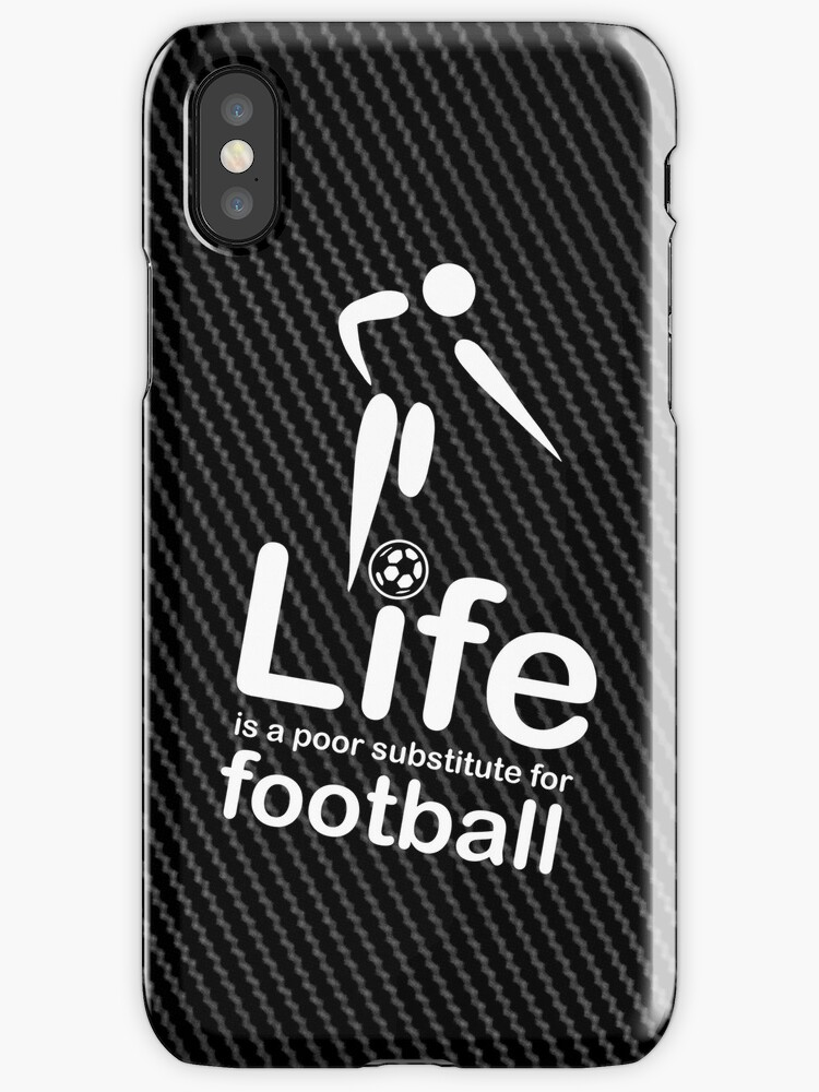 Soccer v Life - Carbon Fibre Finish by Ron Marton