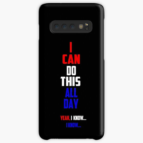 Cap's Catchphrase In Red, White and Blue Samsung Galaxy Snap Case