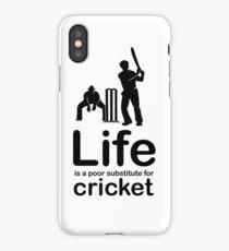 Cricket v Life - White iPhone Case/Skin