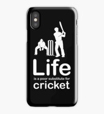 Cricket v Life - Black iPhone Case/Skin