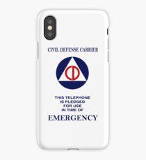Civil Defense Carrier iPhone Case/Skin