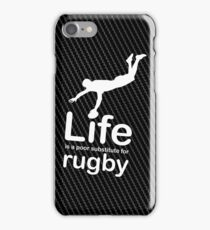 Rugby v Life - Carbon Fibre Finish iPhone Case/Skin