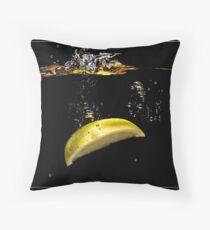 Lemon Splash Throw Pillow
