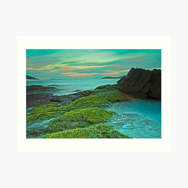Fingal Bay at Sunset Art Print