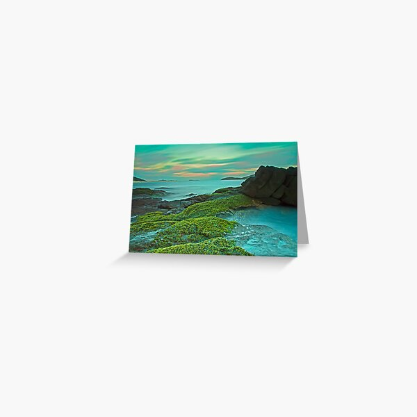 Fingal Bay at Sunset Greeting Card