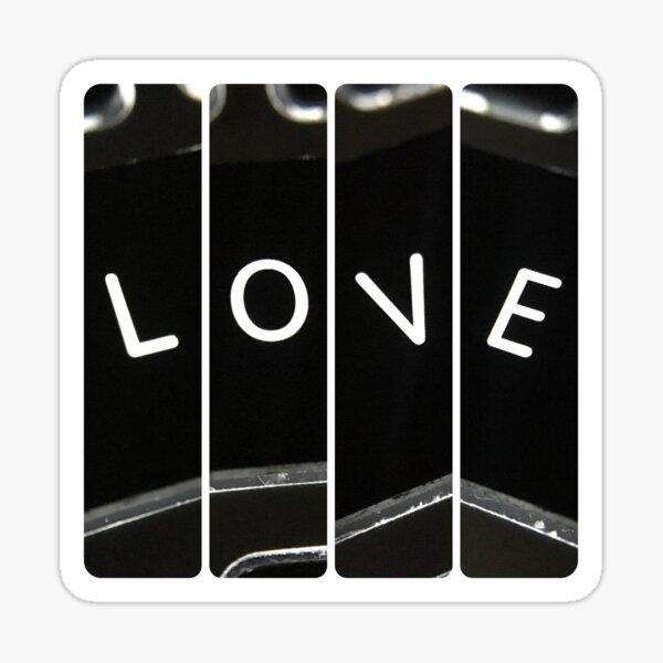 Keyboard Love Line Sticker
