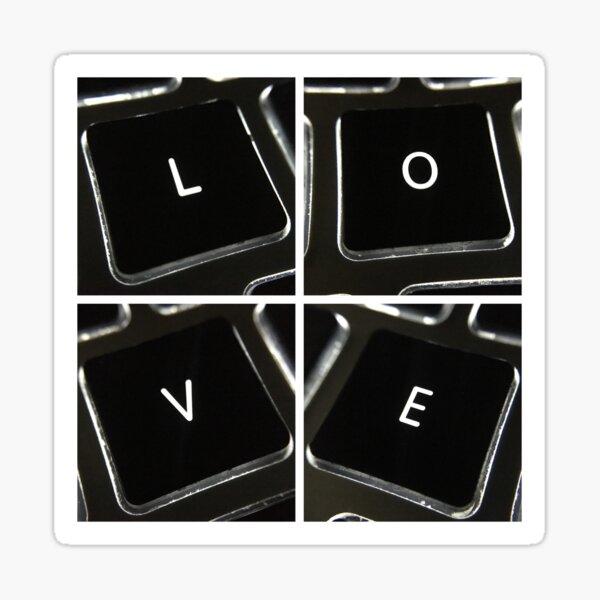 Keyboard Love Square Sticker