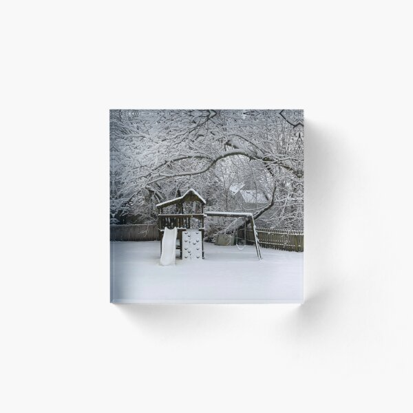 Snow Fort Acrylic Block
