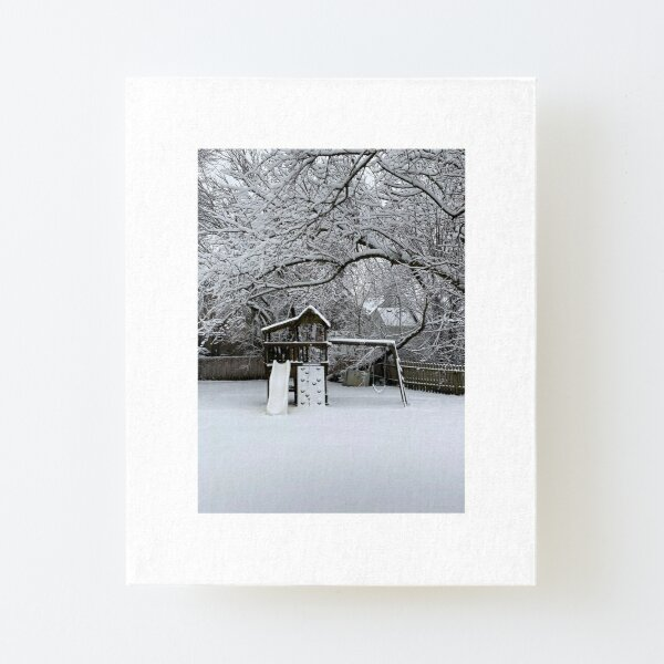 Snow Fort Canvas Mounted Print