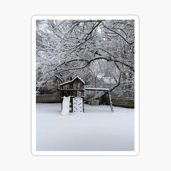 Snow Fort Sticker