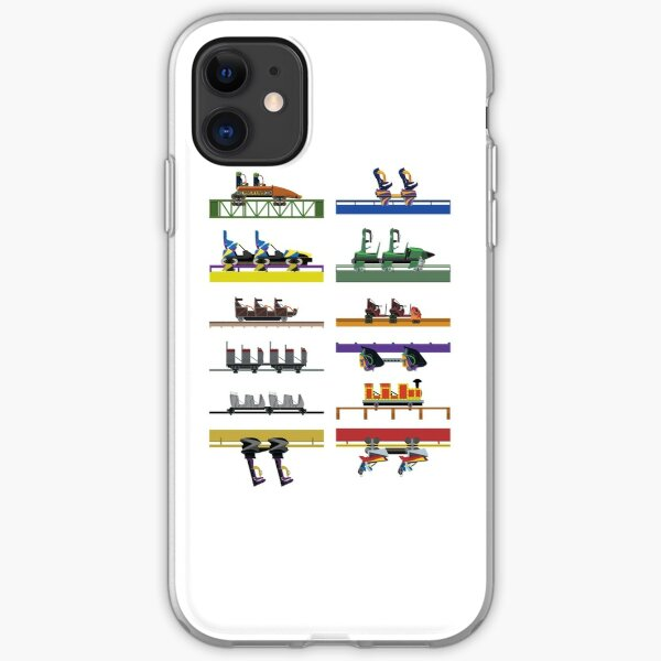Six Flags Great Adventure Coaster Cars Design (With Jersey Devil) iPhone Soft Case