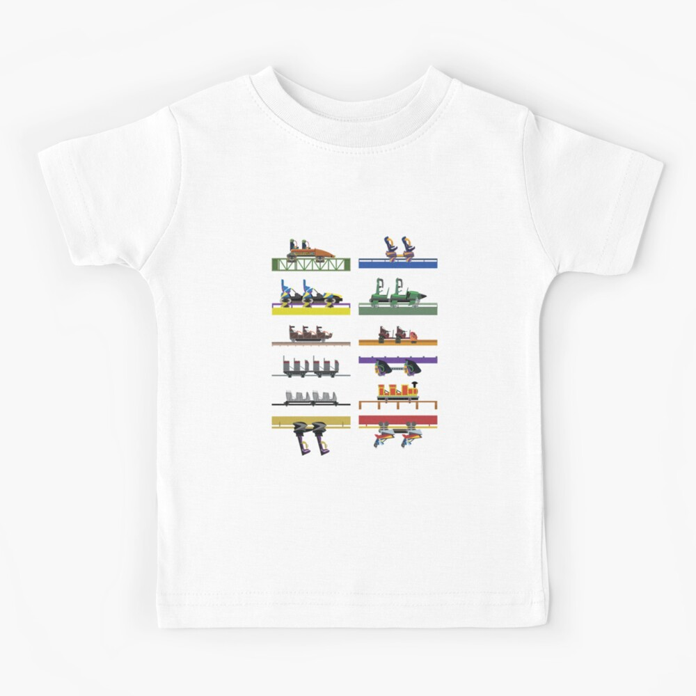Six Flags Great Adventure Coaster Cars Design (With Jersey Devil) Kids T-Shirt