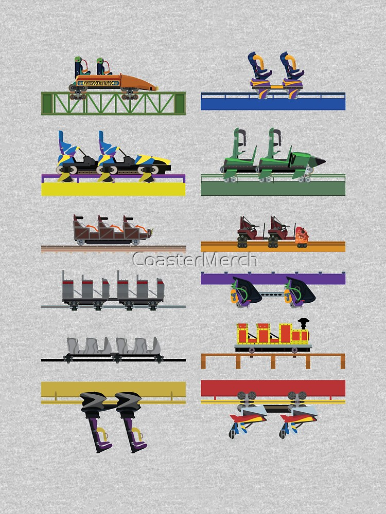 Six Flags Great Adventure Coaster Cars Design (With Jersey Devil) by CoasterMerch