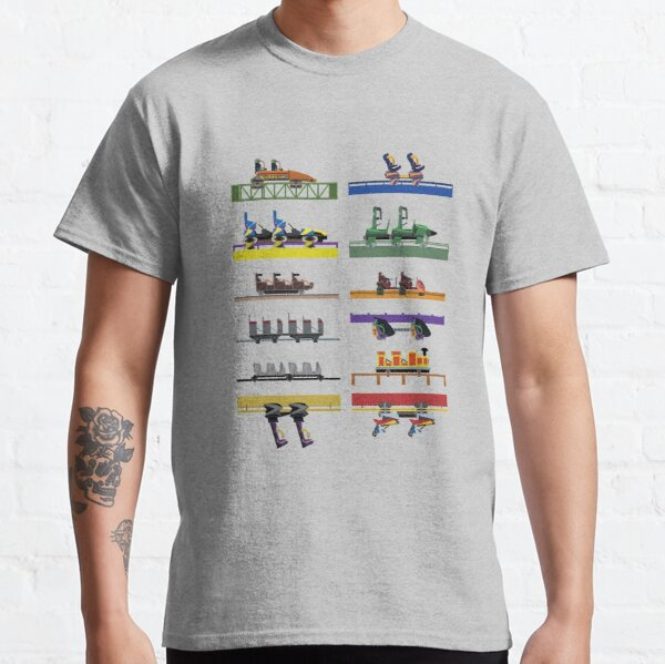 Six Flags Great Adventure Coaster Cars Design (With Jersey Devil) Classic T-Shirt