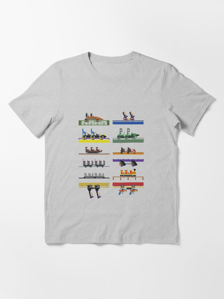 Alternate view of Six Flags Great Adventure Coaster Cars Design (With Jersey Devil) Essential T-Shirt