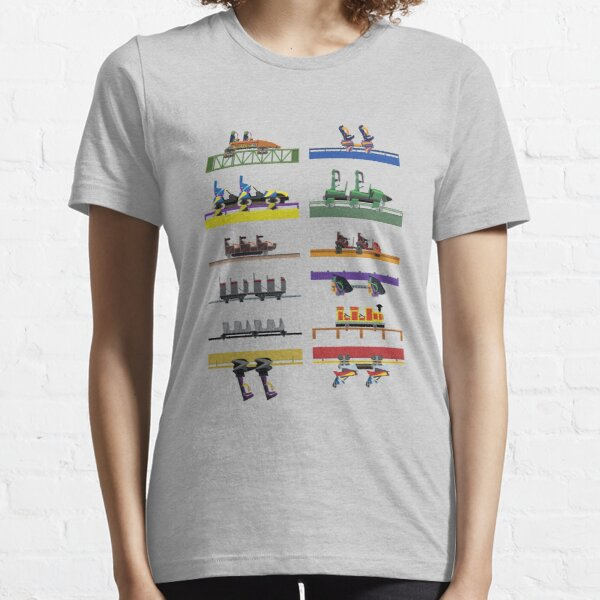 Six Flags Great Adventure Coaster Cars Design (With Jersey Devil) Essential T-Shirt