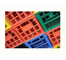 Plastic Crates Art Print