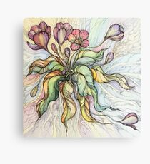 Bridal Bouquet.Hand drawn watercolor and ink drawing Canvas Print