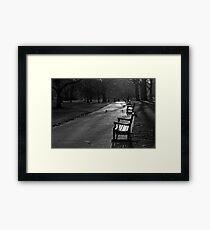 Empty seat, St James Park, London Framed Print