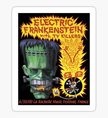 Electric Frankenstein Gig Poster Sticker