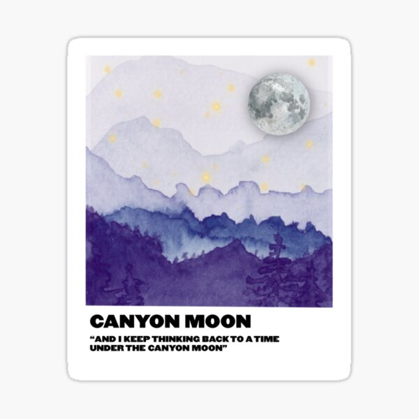 canyon moon polaroid Sticker
