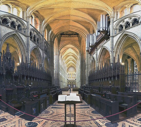 Quire and Nave, Truro Cathedral, England by Bob Culshaw