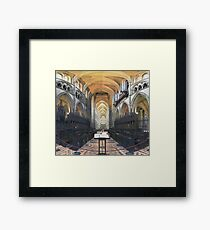 Quire and Nave, Truro Cathedral, England Framed Print