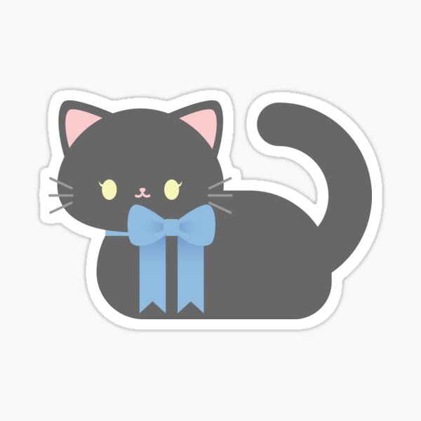 Grey Cat Loaf Sticker