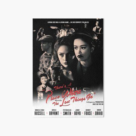 Legacies Film Noir Black and White Hosie Print Movie Poster Casablanca Style (Borderless) Art Board Print