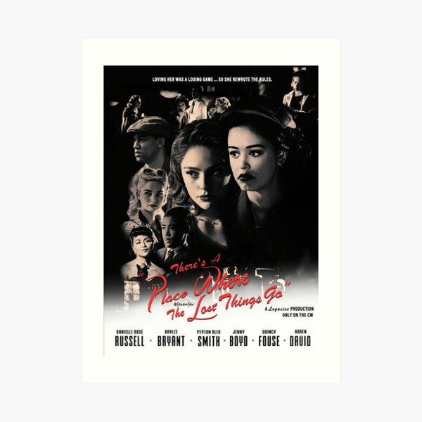 Legacies Film Noir Blanco y negro Hosie Imprimir póster de película Estilo Casablanca (sin bordes) Lámina artística