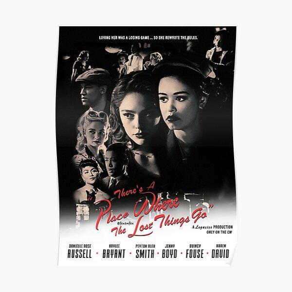 Legacies Film Noir Black and White Hosie Print Movie Poster Casablanca Style (Borderless) Poster
