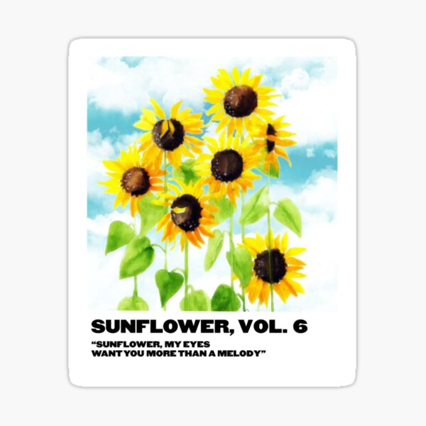 sunflower, vol. 6 polaroid Sticker