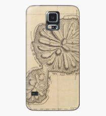 Vintage Map of Tahiti (1773) Case/Skin for Samsung Galaxy